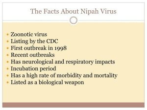 Quick Facts about Nipah Virus