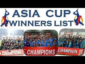 asia cup cricket winners list