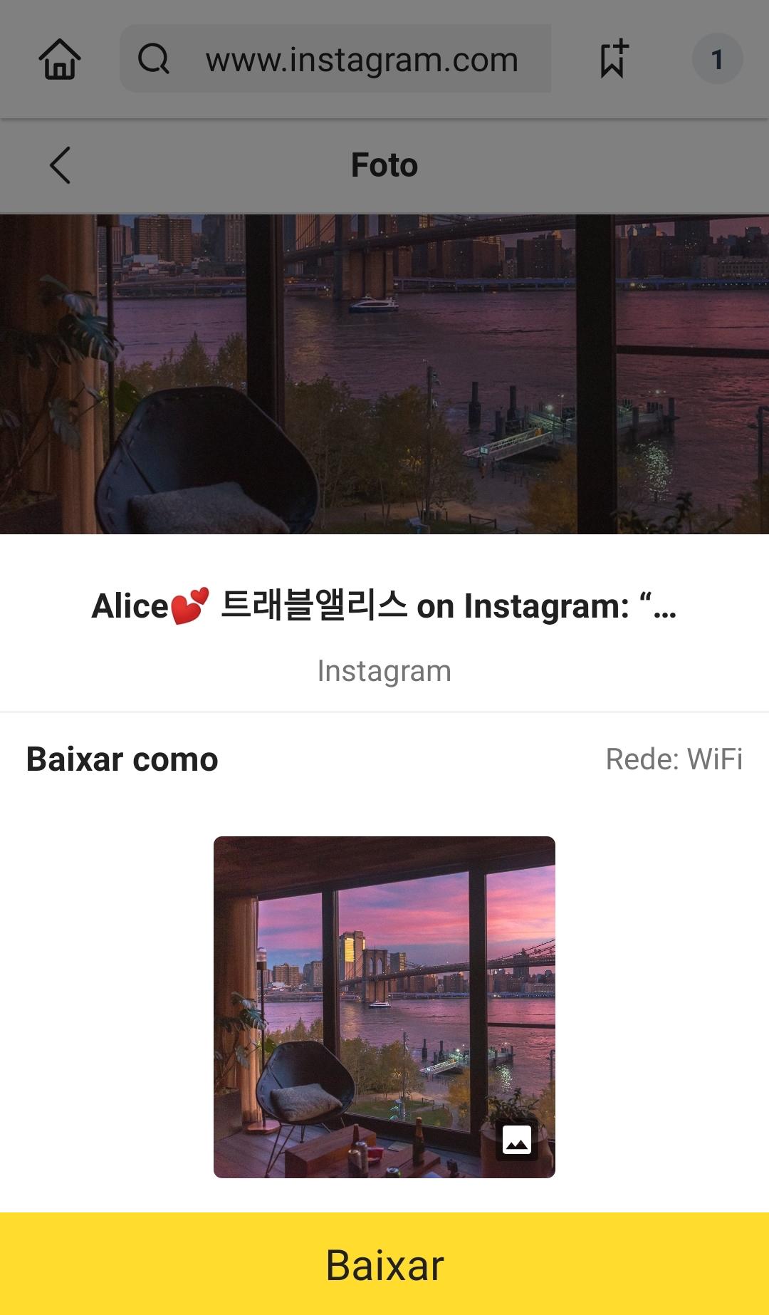 download fotos instagram