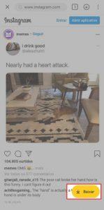 baixar video do instagram para celular